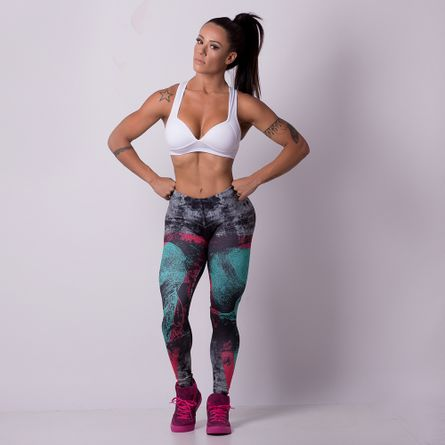 Legging-Fitness-Digital-Skull