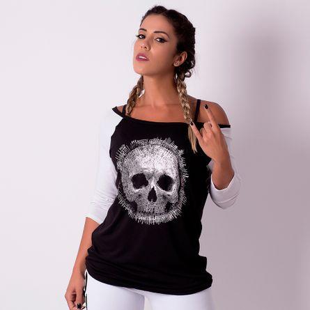 Camiseta-Fitness-Caveira