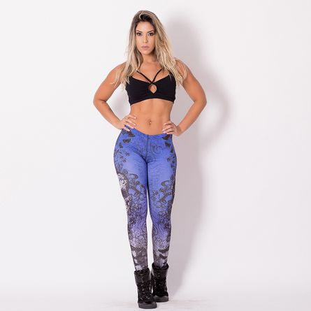 Legging-Fitness-Digital-Caveira-Mexican