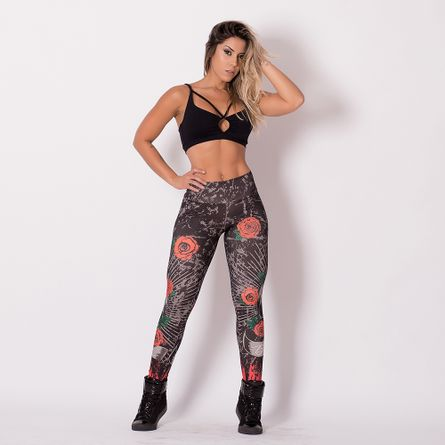 Legging-Sublimada-Caveira-Be-Strong