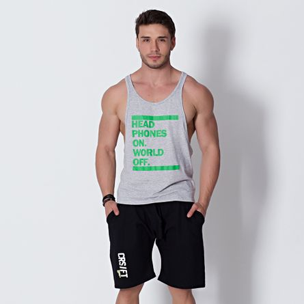 Camiseta-Fitness-Head-Phones-On