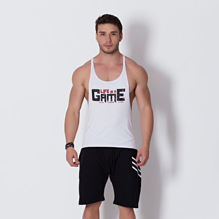 Camiseta-Fitness-Regata-Life-Is-A-Game-
