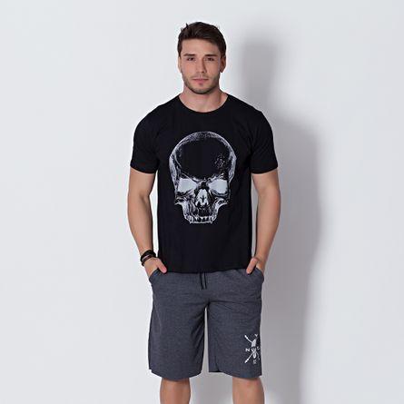 Camiseta-Fitness-T-Shirt-Caveira