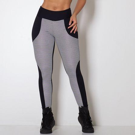 Legging-Fitness-Stripes-White