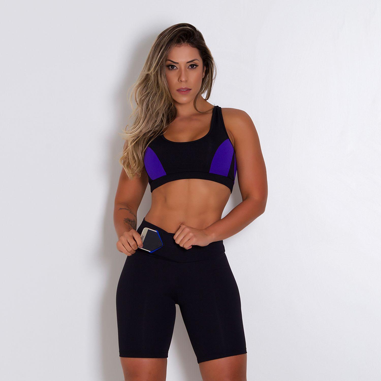 Bermuda fitness com bolso