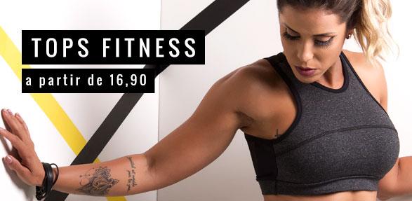 Tops Fitness a partir de R$ 16,90