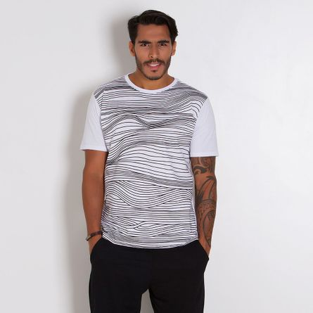 Camiseta-Masculina-Lines-
