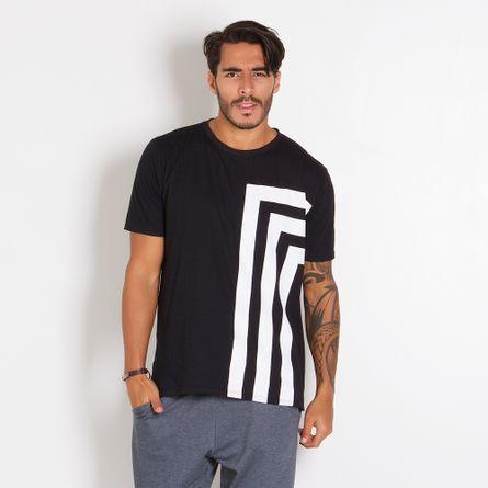 Camiseta-Masculina-Linhas-White-