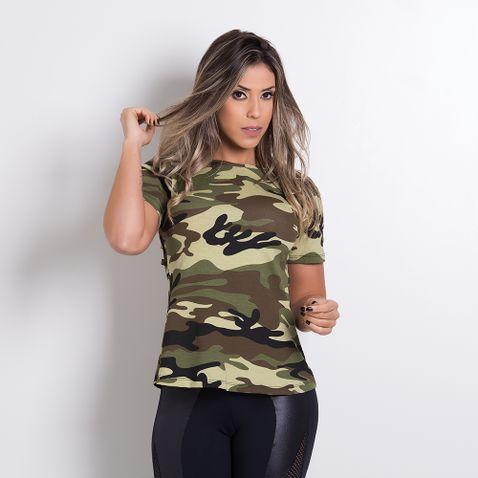 Blusa Fitness Camuflada BL030