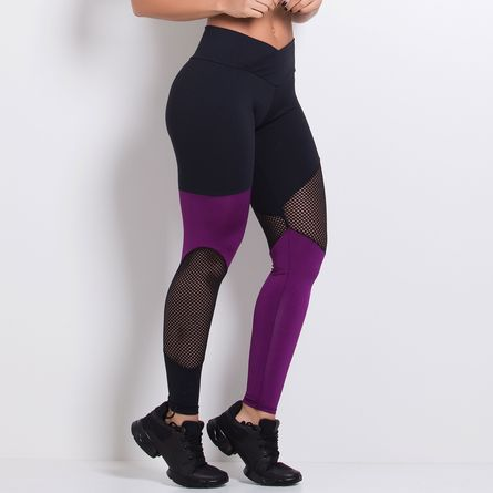 Legging-Fitness-Poliamida-Roxo