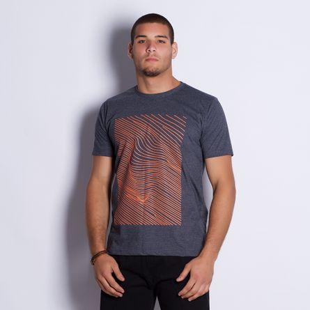 Camiseta-Masculina-Linhas-Gray