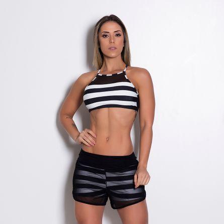 Short-Fitness-Viscolycra-Tule