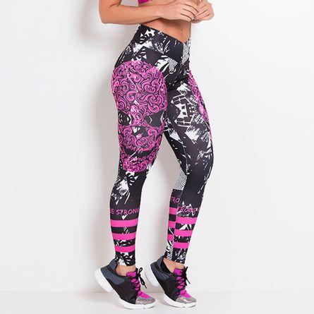 Legging-Fitness-Sublimada-Pink-Foliage-