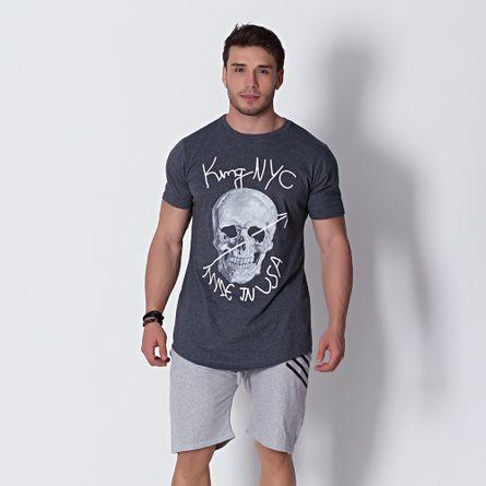 Camiseta-Masculina-Longuete-USA-Caveira-