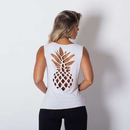 Camiseta-Fitness-Abacaxi-Laser-