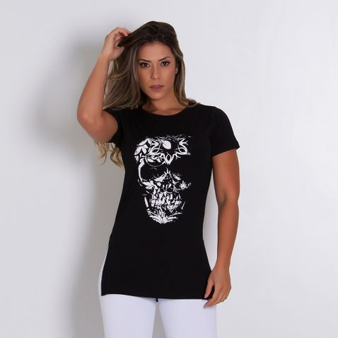 Blusa-Fitness-Skull-Flowers