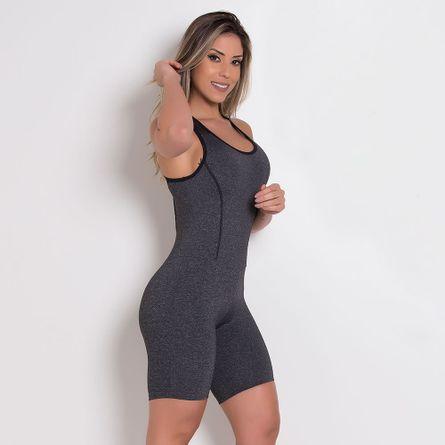 Macaquinho-Fitness-Poliamida-Mescla-