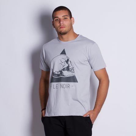 Camiseta-Masculina-Skull-Gray