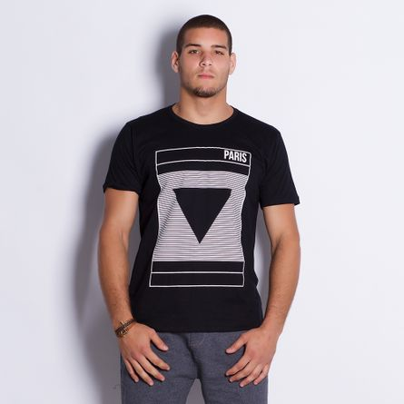 Camiseta-Masculina-Paris-Black-
