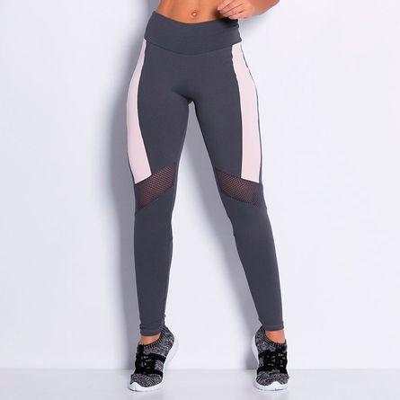 Legging-Fitness-Poliamida-Tela-Cinza