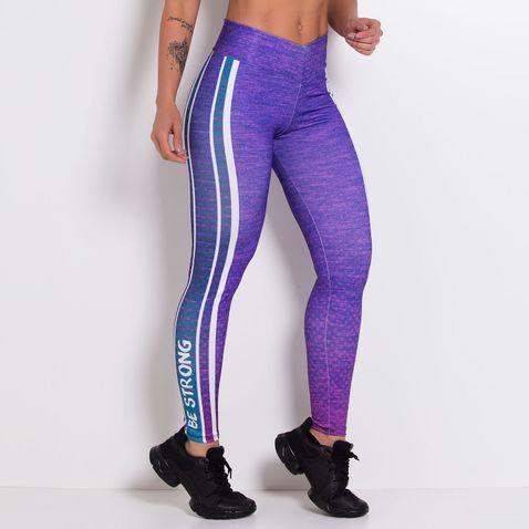 Legging-Fitness-Sublimada-Purple-Style