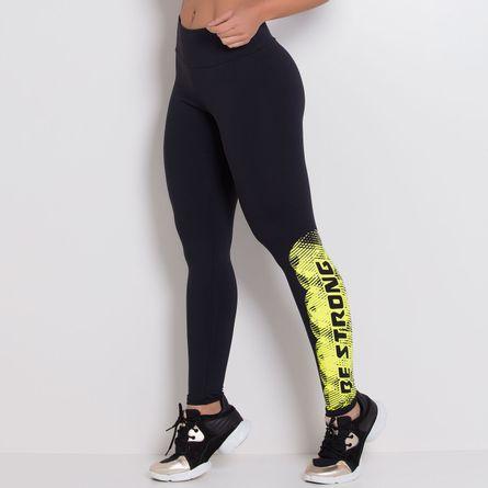 Legging-Fitness-Poliamida-Strong-Yellow