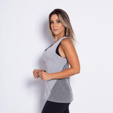 Camiseta-Fitness-Viscose-Tela-Cinza