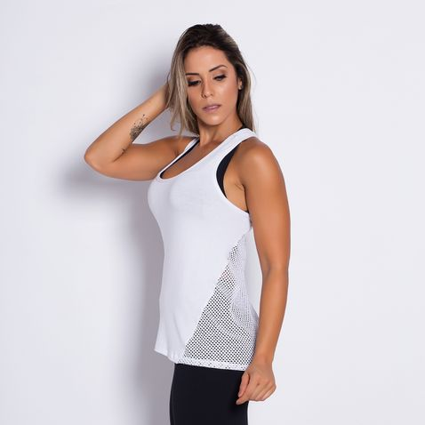 Camiseta-Fitness-Viscose-Tela-White-