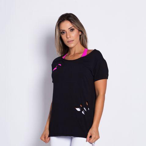Camisa-Fitness-Corte-a-Laser-Bolinha-Black-
