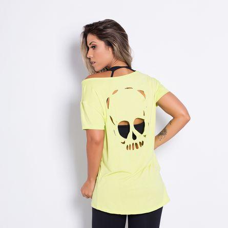 Camisa-Fitness-Corte-a-Laser-Caveira