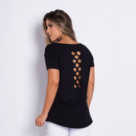 Camisa-Fitness-Corte-a-Laser-Losango-Black