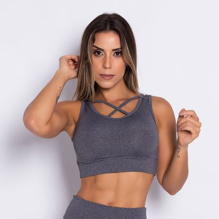 Top-Fitness-Stripes-Gray