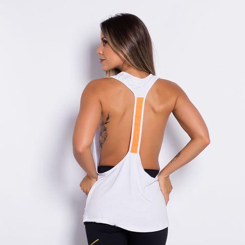 Camiseta-Fitness-Elastic-Orange