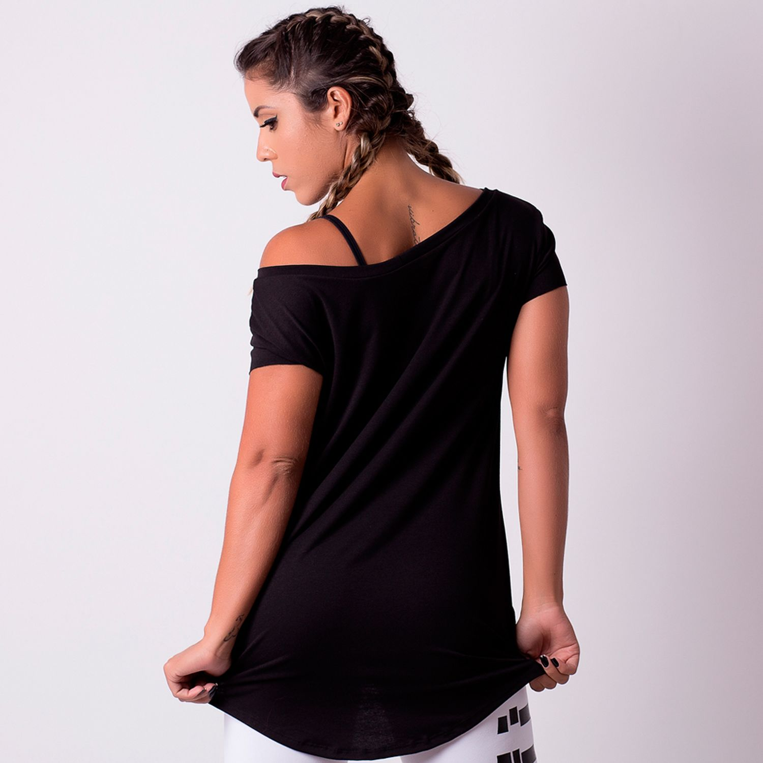 Camiseta Fitness Mullet Caveira CT203 - Honey Be 9bc2afe8ad6