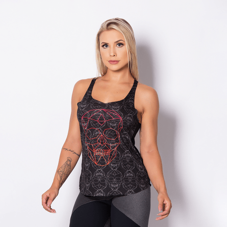 Camiseta-Fitness-Skull-Black