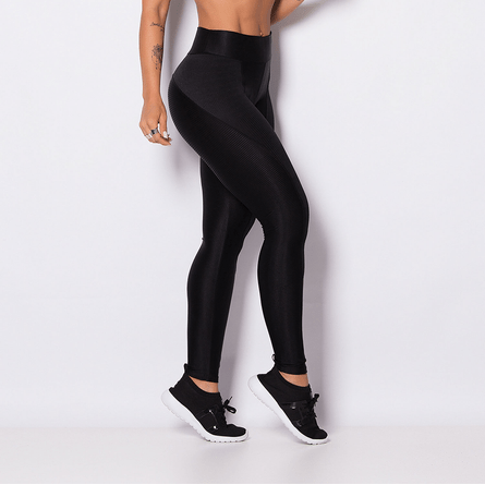Legging-Fitness-Poliester-Brilho-Black