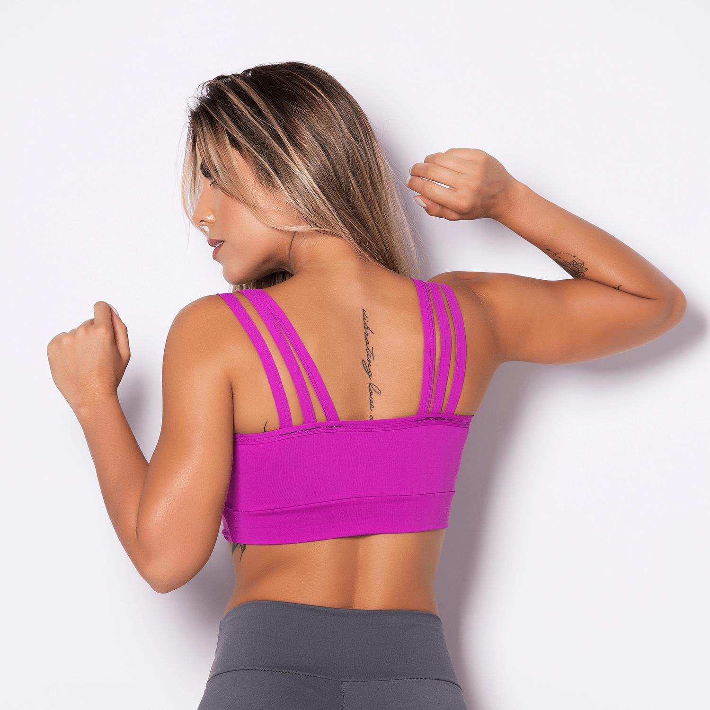 a29c8dfd94 Top Fitness Poliamida Stripes Pink - Honey Be