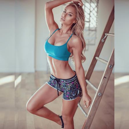 Short-Fitness-Floral