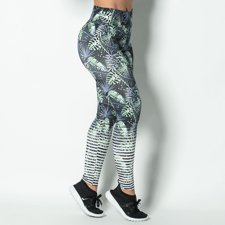 Legging-Fitness-Sublimada-Green-Leaves