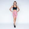 Bermuda-Fitness-Poliester-Pink-Leaves