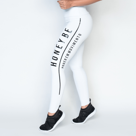 Legging-Fitness-Motion-Branca
