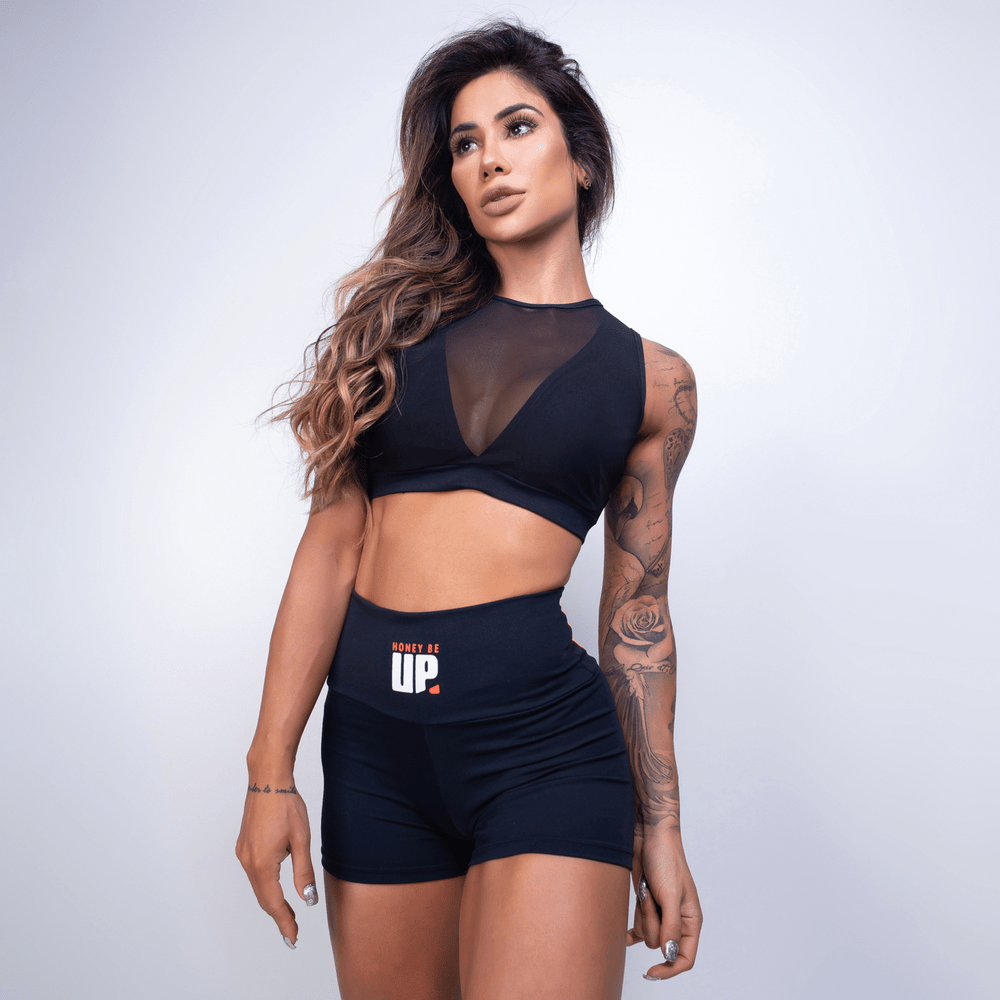 Top Fitness Honey Be Up Preto TP514