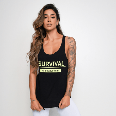 Camiseta-Fitness-Viscolycra-Survival-Preta-CT321-