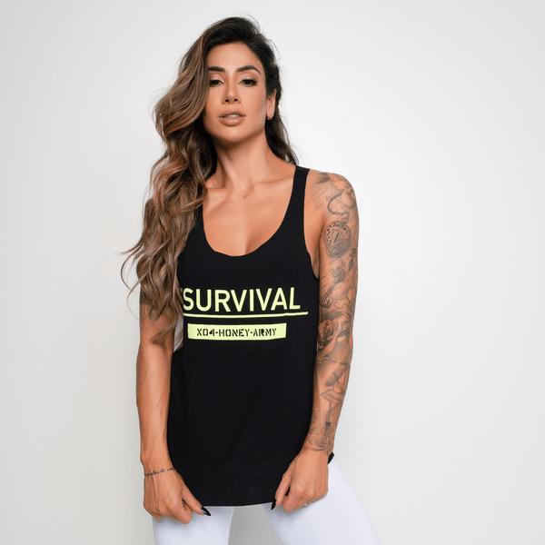 Camiseta-Fitness-Viscolycra-Survival-Preta-CT321-