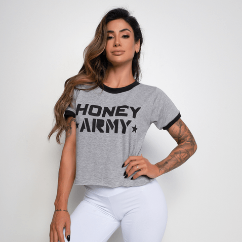 Cropped-Fitness-Mesclado-Honey-Army-CR040