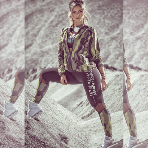 Legging-Fitness-Honey-Army-Preta-LG1215