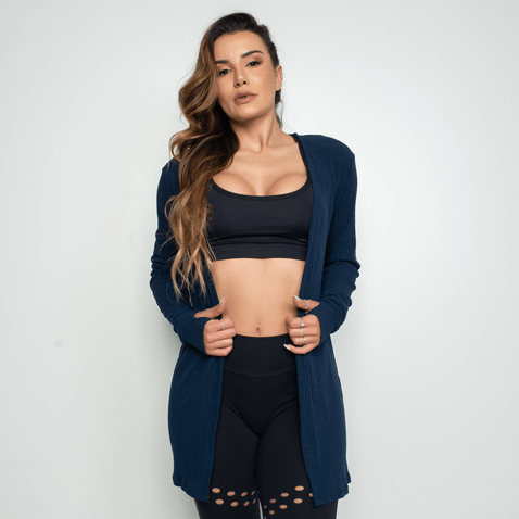 Cardigan-Fitness-Canelado-Azul-Marinho-CS061