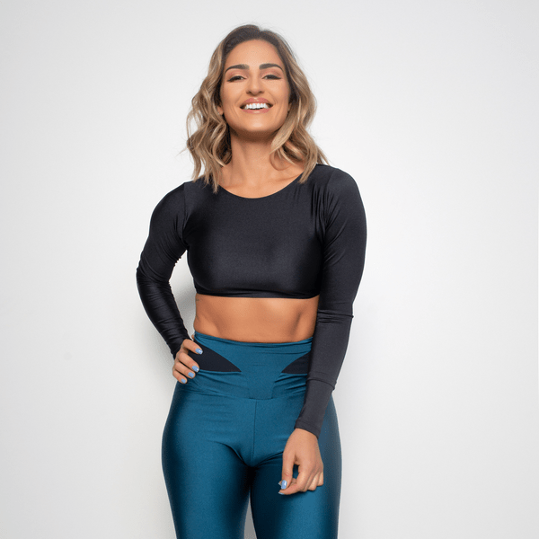 Cropped-Fitness-Preto-Trilobal-Shine-CR045-