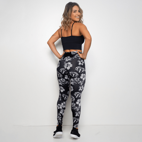 Legging-Fitness-Preta-Dark-Flowers-LG1235-