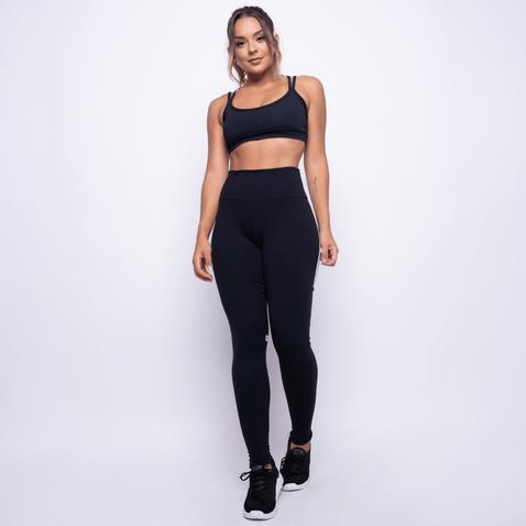 Legging-Fitness-Preta-Poliamida-Faixa-LG1249
